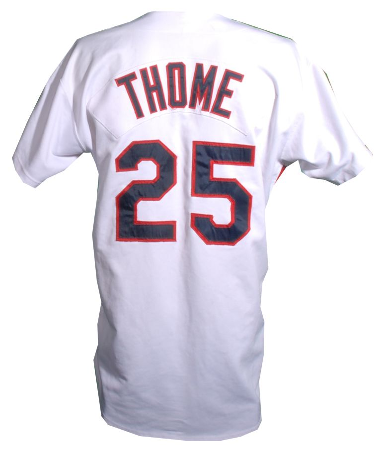 best loved 7b61a 32c96 Lot Detail - 1992 Jim Thome Game Used Cleveland Indians Jersey