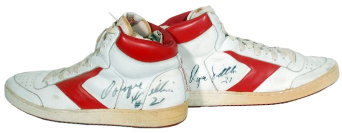 9a82ffd9ca6 Lot Detail - 1985 Dominique Wilkins Autographed Game Used Brooks ...