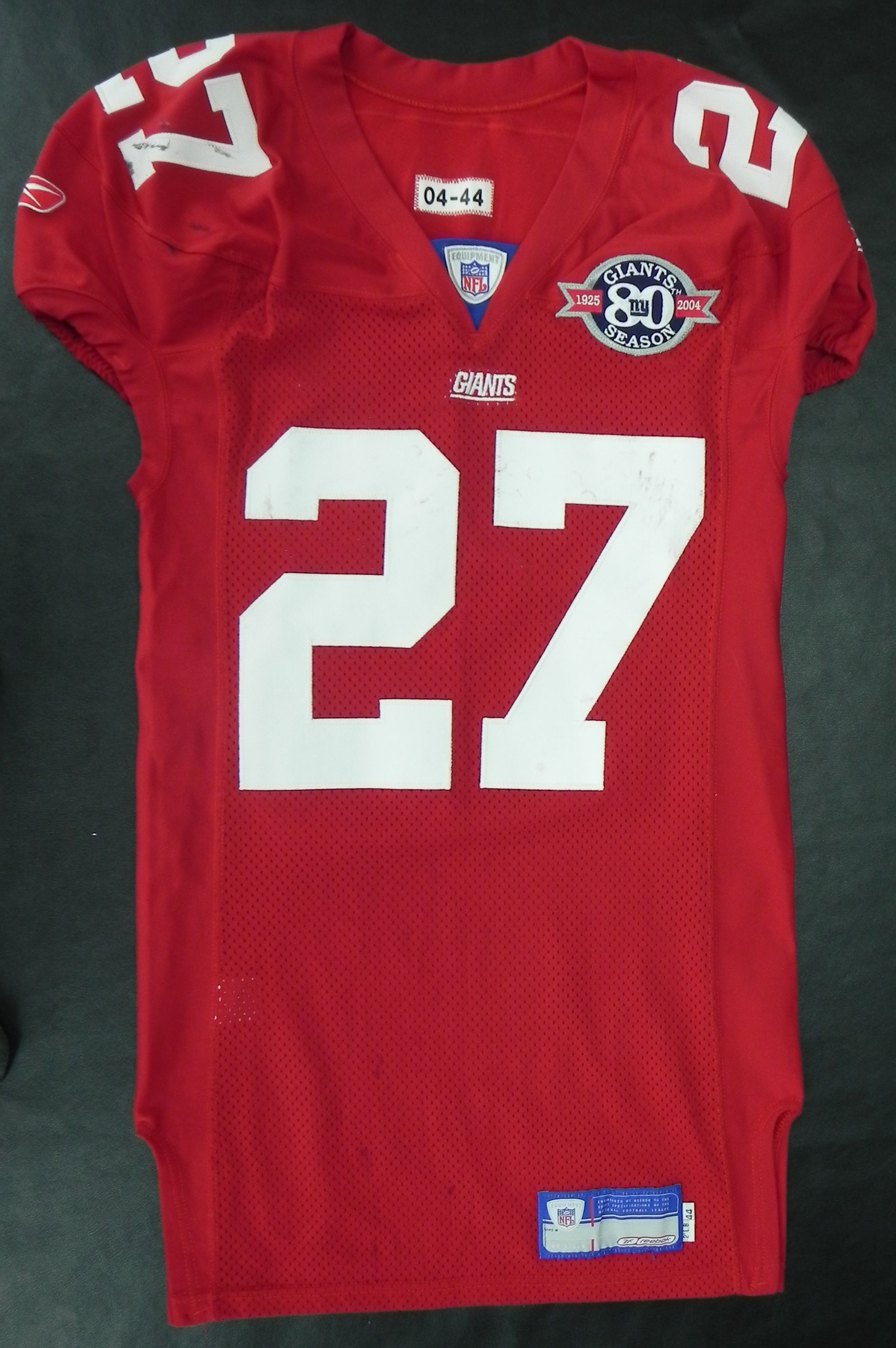 71dc6520 Lot Detail - 2004 Ron Dayne Game Used New York Giants Game Used Jersey
