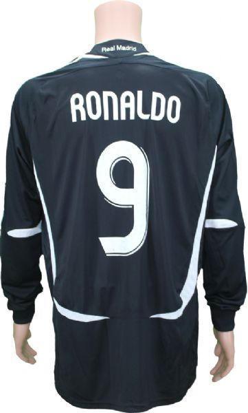 low priced 10a30 970ee Lot Detail - 2006-07 Ronaldo #9 Real Madrid Match Worn Jersey