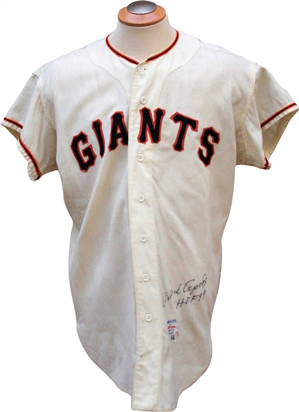 1963 Orlando Cepeda Autographed Game Used San Francisco Giants Jersey