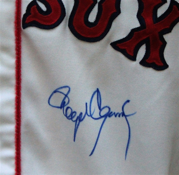 1987 Roger Clemens Autographed Game Used Boston Red Sox Jersey