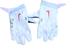 2015 Rob Gronkowski Autographed Game Used Gloves vs NY Jets