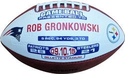9/10/2015 Autographed Trophy/Game Ball Presented to Rob Gronkowski
