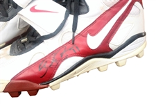 Circa 1994 Elvis Grbac Autographed Game Used San Francisco Cleats