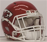 2014 Jamaal Charles Autographed Game Used Kansas City Chiefs Helmet Photo Matched