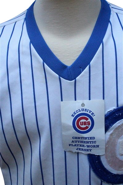 1989 Vance Law Game Used Chicago Cubs Jersey
