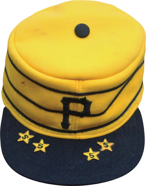 1976 Pittsburg Pirates Game Used Pill Box Hat Gold Version