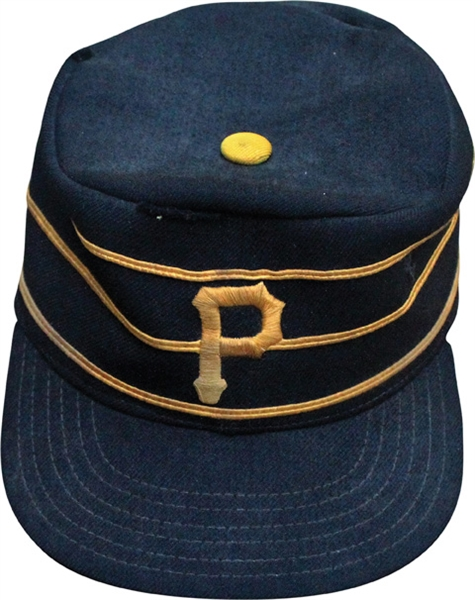 1976 Pittsburg Pirates Game Used Pill Box Hat Black Version