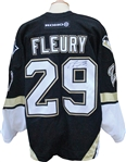 2003-04 Rookie Marc-André Fleury Autographed Game Used Pittsburg Penguins Jersey
