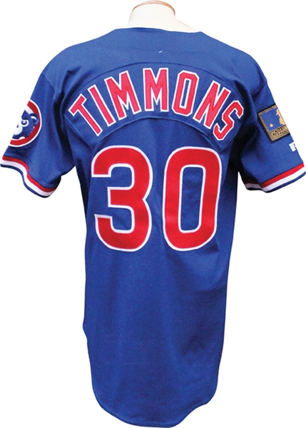 1994 Ozzie Timmons Game Used Chicago Cubs Jersey