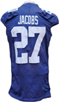2009 Brandon Jacobs Game Used New York Giants Jersey
