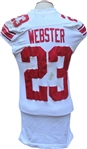 2009 Corey Webster Game Used New York Giants Jersey