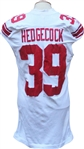2009 Madison Hedgecock Game Used New York Giants Jersey