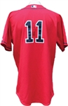 2007 Royce Clayton World Series Champion Season Autographed Game Used Boston Red Sox Jersey