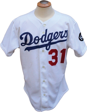 1993 Mike Piazza Rookie Game Used Los Angeles Dodgers Jersey