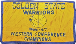 1966-67 Golden State Warriors Western Conference Champions Banner