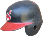 Circa 1985 Julio Franco Game Used Cleveland Indians Helmet