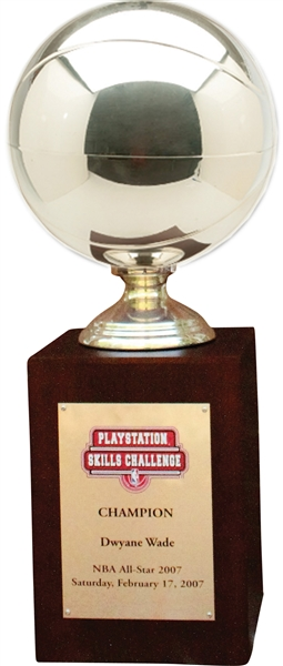 2007 Dwyane Wade NBA All-Star PlayStation Skills Challenge Game Championship Trophy – Wade Family LOA