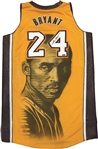 Kobe Bryant Los Angeles Lakers Pro Cut Autographed Jersey Painted by Artist Teachr 1/1