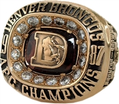 1987 PLAYER ORSON MOBLEY DENVER BRONCOS AMERICAN FOOTBALL CONFERENCE CHAMPIONSHIP RING