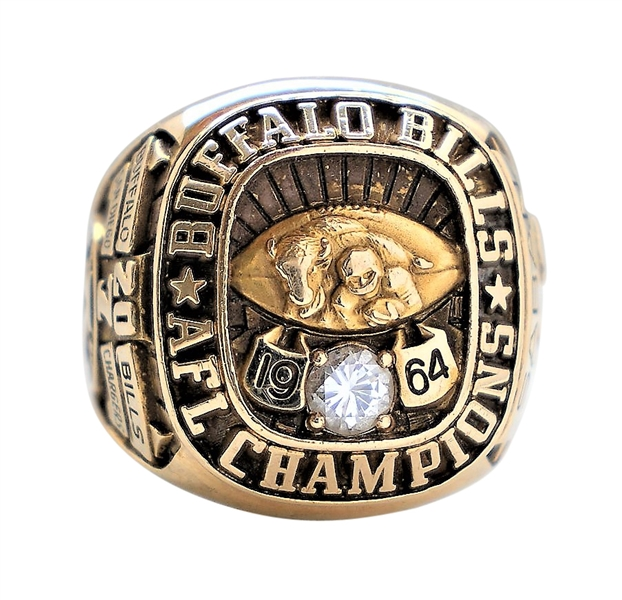 1964 LOU SABIN BUFFALO BILLS AMERICAN FOOTBALL CHAMPIONS RING