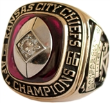 1966 KANSAS CITY CHIEFS AMERICAN FOOTBALL LEAGUE CHAMPIONS RING