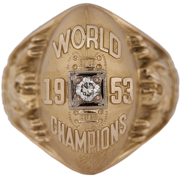 1953 DETROIT LIONS WORLD CHAMPIONS RING