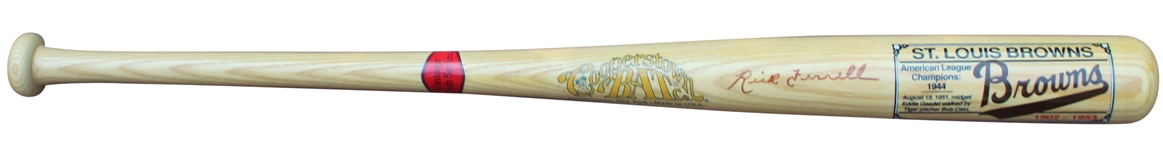COOPERSTOWN BAT COMPANY LIMITED EDITION ST. LOUIS BROWNS BAT SIGNED BY RICK FERRELL