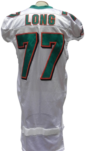 sports shoes e21f0 19a35 Lot Detail - 2010 JAKE LONG MIAMI DOLPHINS GAME USED JERSEY