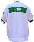 1991 LARRY BIRD BOSTON CELTICS GAME USED WARM-UP WITH CENTENNIAL PATCH