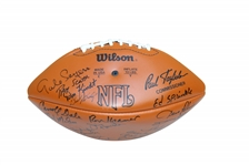 CHICAGO BEARS/GREEN BAY PACKERS RIVALRY AUTOGRAPHED FOOTBALL