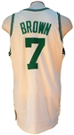 1990 ROOKIE DEE BROWN AUTOGRAPHED BOSTON CELTICS GAME USED JERSEY