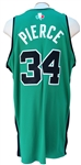 2007/08 PAUL PIERCE AUTOGRAPHED BOSTON CELTICS NBA EUROPE GAME USED JERSEY