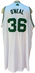 RARE 2010/11 SHAQUILLE ONEAL BOSTON CELTICS GAME USED JERSEY