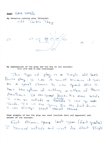 GALE SAYERS FAVORITE PLAY HAND WRITTEN QUESTIONER