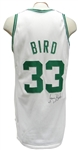 1987 LARRY BIRD GAME USED AND AUTOGRAPHED BOSTON CELTICS JERSEY