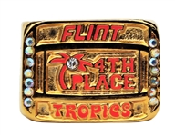 ABA WILL FERRELL BASKETBALL MOVIE SEMI-PRO PROP SWAG FLINT TROPICS 4TH PLACE RING