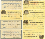 LOT OF 50 VAL PICINICH SIGNED CHECKS REDS - RED SOX - SENATORS - BROOKLYN DODGERS