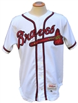 1996 WORLD SERIES SEASON GREG MADDUX AUTOGRAPHED ATLANTA BRAVES GAME USED JERSEY