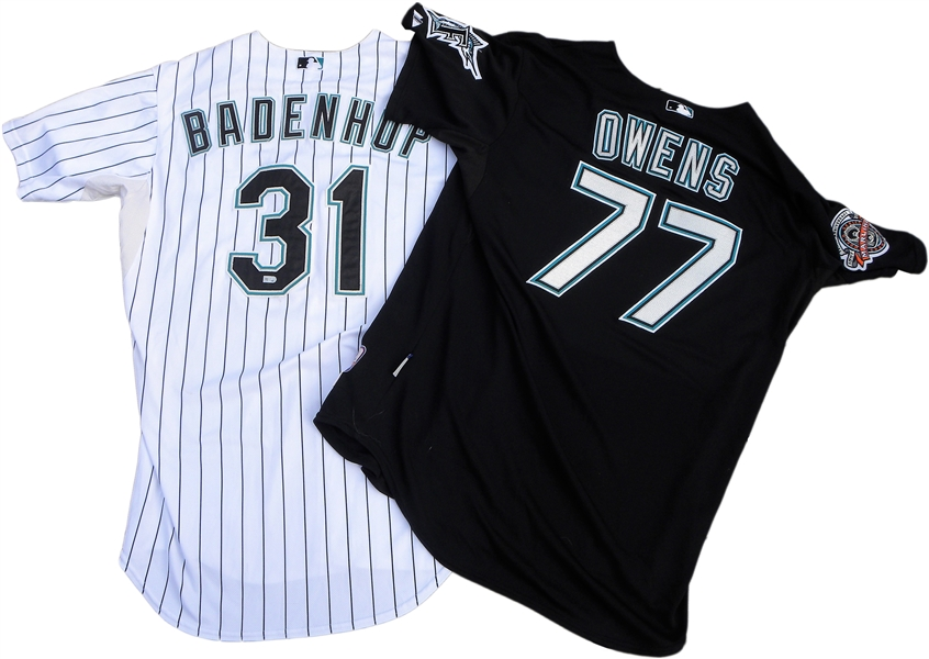 LOT OF 4 FLORIDA MARLINS GAME USED JERSEYS