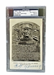 CY YOUNG SIGNED HOF PLAQUE PSA ENCAPSULATED