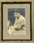 BABE RUTH SIGNED GEORGE BURKE PHOTOGRAPH
