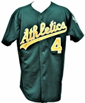 2003 MIGUEL TEJADA SIGNED OAKLAND ATHLETICS GAME USED JERSEY