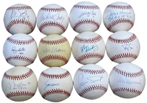 33 SINGLE SIGNED BASEBALL COLLECTION