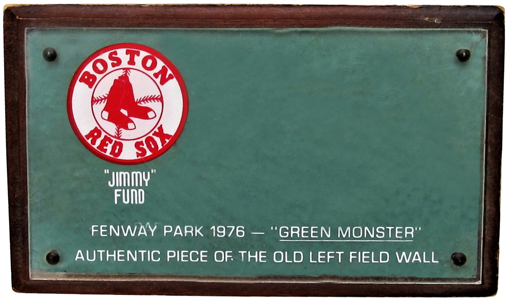 JIMMY FUND SECTION OF GREEN MONSTER