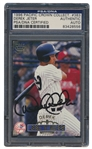 1998 DEREK JETER SIGNED PACIFIC CROWN COLLECTION CARD #383
