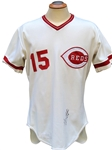 1979 GEORGE FOSTER SIGNED CINCINNATI REDS GAME USED JERSEY