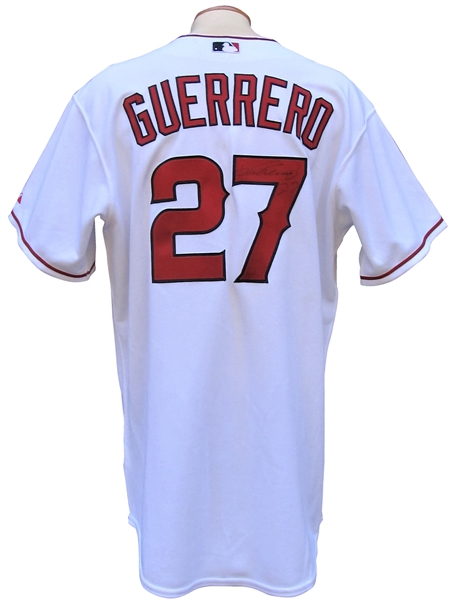 2007 VLADIMIR GUERRERO SIGNED LOS ANGELES ANGELS GAME USED JERSEY