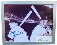 MICKEY MANTLE AND ROGER MARIS SIGNED PHOTO